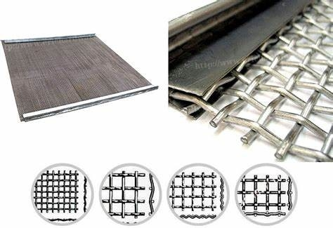 Bbq Grill Net Corrugated Crimped Wire Mesh Stainless Steel Stable Structure